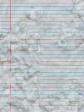 Stained paper. Lined paper with water stain Stock Photography