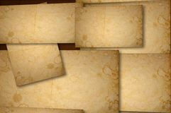 Stained paper background on multiple planes Royalty Free Stock Photos