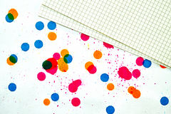 Stained paper Stock Photography