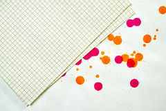 Stained paper Stock Photos