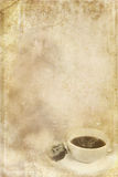 Stained Paper with Cup of Coffee Royalty Free Stock Image