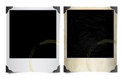 Stained Polaroid images Royalty Free Stock Images