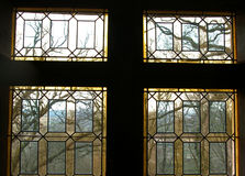 Stained renaissance window. Royalty Free Stock Photos