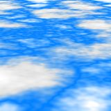 Stained seamless pattern texture background blue sky with white clouds Stock Photos