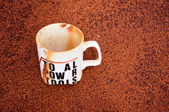 Stained Single White Cup Buried Stock Photography