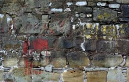 Stained stone wall Royalty Free Stock Image
