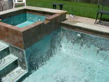 Stained swimming pool Stock Photo