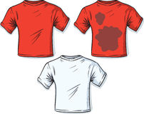Stained t-shirt Royalty Free Stock Images