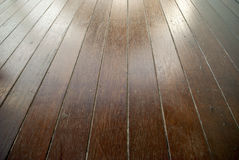 Stained timber decking Royalty Free Stock Photography
