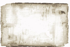 Stained  and torned old paper Royalty Free Stock Photo