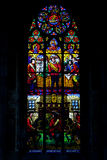 Stained window, Votive church, Vienna, Austria Stock Image