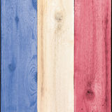 Stained wood for USA or France flag Stock Photo