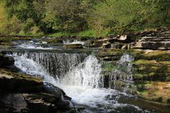 Stainforth Falls, Yorkshire Dales. Stainforth Force on the river Ribble in the Yorkshire Dales National Park, England Stock Photography