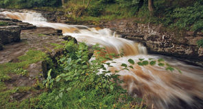 Stainforth force. Waterfall in Yorkshire Royalty Free Stock Photography