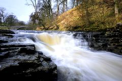 Stainforth Force. A Winter afternoon on Stainforth Force Stock Photo