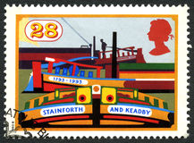 Stainforth and Keadby Canal UK Postage Stamp Stock Photo