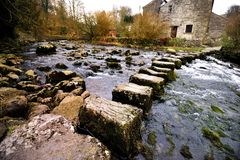 Stepping Stones. Stainforth Stepping Stones - Yorkshire, England Royalty Free Stock Image