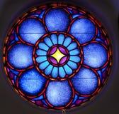 Stainglass fönsterblått Royaltyfria Bilder