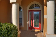 Stainglass Front Door Stock Photos