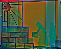StainGlass-Hagel Mary Heaven stockfotografie