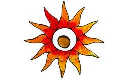 stainglass słońce Obrazy Stock
