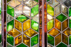 Stainglass sujos do vintage foto de stock