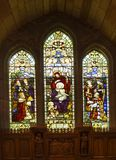 Stainglass Window. Brecon Cathedral,South Wales royalty free stock image