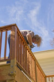 Staining the Deck Royalty Free Stock Images