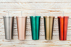 Free Stainless And Tumbler Cup Royalty Free Stock Images - 85458149