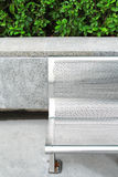 Stainless bench in park Stock Photos