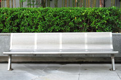 Stainless bench in park royalty free stock photos