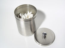 Stainless Canister. Photo of Stainless Steel Canister royalty free stock photos