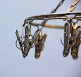 Stainless clothes peg. Close up stainless clothes peg Stock Photos