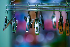 Stainless Clothes Peg Hanger Stock Image