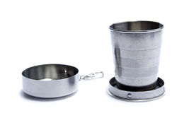 Stainless collapsible cup Royalty Free Stock Images