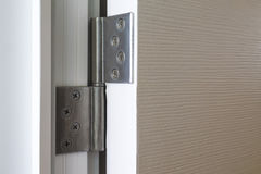 Stainless door hinges Royalty Free Stock Photos