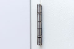 Stainless door hinges Royalty Free Stock Photography