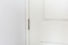 Stainless door hinges Royalty Free Stock Image