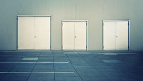 Stainless doors Royalty Free Stock Photography
