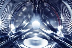Stainless drum of washing machine Stock Image