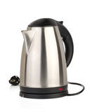 Stainless electric kettle on white Stock Photos