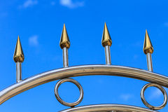 Stainless fence Royalty Free Stock Images
