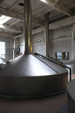 Stainless fermentation tanks Stock Photos