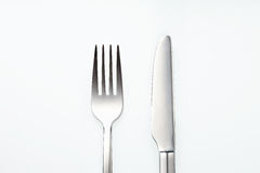 Stainless Fork and Knife Stock Photos