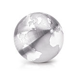 Stainless globe 3D illustration North and South America map Royalty Free Stock Photo