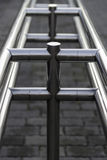 Stainless handrail Royalty Free Stock Images