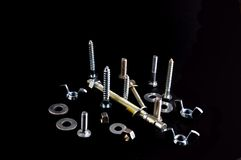 Stainless Hardware. Hardware fasteners Stock Photography