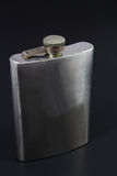 Stainless hip flask Stock Image