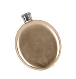 Stainless hip flask Royalty Free Stock Images