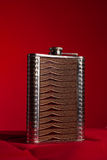 Stainless hip flask Stock Images